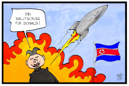 Cartoon: Nordkorea (medium) by Kostas Koufogiorgos tagged karikatur,koufogiorgos,illustration,cartoon,nordkorea,kim,jong,un,trump,atomwaffe,nuklear,rakete,glückwunsch,salutschuss,usa,karikatur,koufogiorgos,illustration,cartoon,nordkorea,kim,jong,un,trump,atomwaffe,nuklear,rakete,glückwunsch,salutschuss,usa