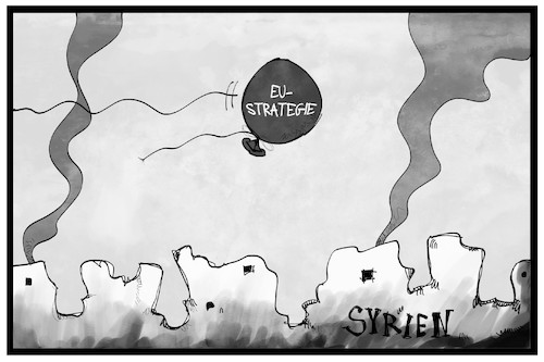 Cartoon: Syrien-Strategie (medium) by Kostas Koufogiorgos tagged karikatur,koufogiorgos,illustration,cartoon,syrien,strategie,ballon,luft,zerstörung,bombardierung,karikatur,koufogiorgos,illustration,cartoon,syrien,strategie,ballon,luft,zerstörung,bombardierung