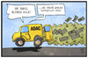 Cartoon: ADAC (small) by Kostas Koufogiorgos tagged karikatur,koufogiorgos,illustration,cartoon,adac,automobil,club,auto,geld,millionen,verlein,verlust,engel,gelb