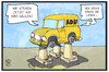 Cartoon: ADAC (small) by Kostas Koufogiorgos tagged karikatur,koufogiorgos,illustration,cartoon,adac,säulen,räder,auto,verein,automobilclub,reform