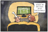 Cartoon: DFB-Testspiel (small) by Kostas Koufogiorgos tagged karikatur,koufogiorgos,illustration,cartoon,wm,pokal,fussball,dfb,argentinien,deutschland,sport