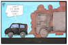 Cartoon: Diesel (small) by Kostas Koufogiorgos tagged karikatur,koufogiorgos,illustration,cartoon,diesel,pkw,lkw,umwelt,verschmutzung,stickoxid,feinstaub,automobil,wirtschaft