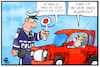 Cartoon: Handy Bezahldienst (small) by Kostas Koufogiorgos tagged karikatur,koufogiorgos,illustration,cartoon,handy,smartphone,bezahldienst,apple,pay,polizei,kontrolle,verkehr,bussgeld