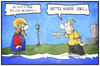 Cartoon: Kirchentag (small) by Kostas Koufogiorgos tagged karikatur,koufogiorgos,illustration,cartoon,kirchentag,stuttgart,wunder,weg,wasser,religion,christentum