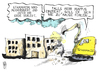 Cartoon: Mappus (small) by Kostas Koufogiorgos tagged mappus,enbw,deal,stammheim,gefängnis,21,stuttgart,abriss,modernisierung,betrug,krikatur,kostas,koufogiorgos