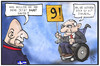 Cartoon: Nine! (small) by Kostas Koufogiorgos tagged karikatur,koufogiorgos,illustration,cartoon,varoufakis,schaeuble,nine,nein,konflikt,griechenland,deutschland,finanzminister,politik