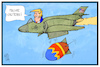 Cartoon: Ostern mit Trump (small) by Kostas Koufogiorgos tagged karikatur,koufogiorgos,illustration,cartoon,trump,bombe,bombardierung,moab,ostern,osterei,kampfflieger,flugzeug,krieg,konflikt,usa