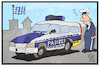 Cartoon: Pagizei (small) by Kostas Koufogiorgos tagged karikatur,koufogiorgos,illustration,cartoon,pag,polizei,auto,pagizei,bayern,sicherheit