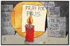 Cartoon: Pray for... (small) by Kostas Koufogiorgos tagged karikatur,koufogiorgos,illustration,cartoon,pray,paris,mali,beirut,trauer,kerze,gedenken,licht,dunkel,terrorismus,andacht