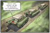 Cartoon: Russische Invasion (small) by Kostas Koufogiorgos tagged karikatur,koufogiorgos,illustration,cartoon,invasion,konvoi,russland,panzer,konservendose,hilfe,krieg,konflikt,ukraine