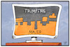 Cartoon: Trumptris (small) by Kostas Koufogiorgos tagged karikatur,koufogiorgos,illustration,cartoon,tetris,trump,usa,mauer,spiel,computer