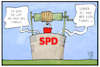 Cartoon: Zustand der SPD (small) by Kostas Koufogiorgos tagged karikatur,koufogiorgos,illustration,cartoon,spd,loch,keller,brunnen,umfrage,tief,partei,sozialdemokraten,demokratie
