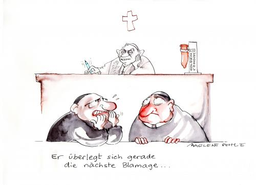 Cartoon: Die nächste Blamage (medium) by Marlene Pohle tagged besuch,des,papstes,in,afrika
