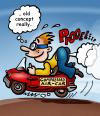 Cartoon: air car by compressed ga (small) by illustrator tagged gas,wind,blow,fart,car,compressed,cartoon,satire,technology,peter,welleman,illustrator