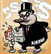 Cartoon: Greedy Airbnb (small) by illustrator tagged airbnb,fee,cancellation,unfair,greedy,hospitality