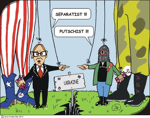 Cartoon: Anschuldigungen (medium) by JotKa tagged ukraine,russland,europa,usa