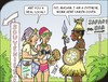 Cartoon: African holiday (small) by JotKa tagged vacation,travel,relaxation,sun,beach,sea,jungle,savannah,steppe,rhino,safari,bar,souvenirs,fly,tourists,tour,operators,ripoff,show,extras,hotel,excursions,local,natives,negroes,holiday,packages,excursion,programs