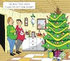 Cartoon: The Christmastree (small) by JotKa tagged christmas,xmas,holiday,presents,christmaseve,christmasparty,christmastree,xmastree