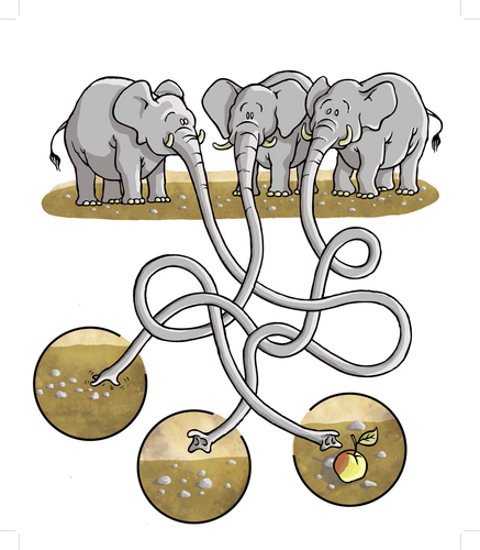 Cartoon: Elephants (medium) by grega tagged animals,wild