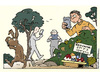 Cartoon: Geocache (small) by Micha Strahl tagged micha,strahl,ostern,ostereier,ostereiersuche,geocache,geocaching