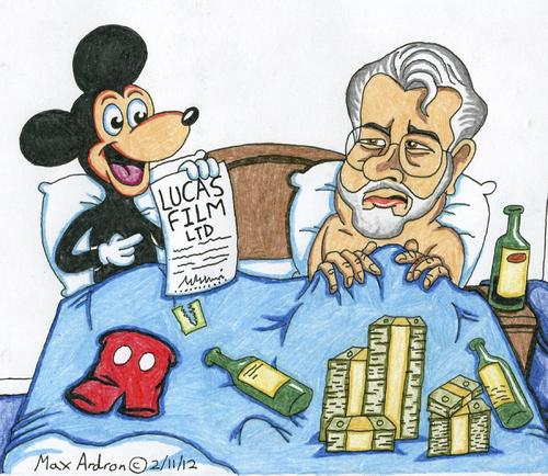 Cartoon: The Morning After... (medium) by maxardron tagged mickeymouse,mouse,mickey,george,lucas,georgelucas,lucasfilmltd,star,wars,starwars,disney