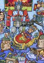 Cartoon: The Bedroom of Michael Bay (small) by maxardron tagged michael,bay,michaelbay,transformers,director,stevenspielberg