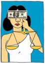 Cartoon: JUSTICE (small) by CIGDEM DEMIR tagged justice money