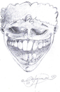 Cartoon: LAUGH (small) by CIGDEM DEMIR tagged smile laugh man people happiness cartoon portre