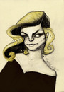 Cartoon: Lauren Bacall (small) by CIGDEM DEMIR tagged lauren,bacall,portrait,cartoon,caricature,woman