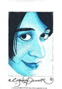 Cartoon: Woman in Blue (small) by CIGDEM DEMIR tagged cigdem demir woman in blue portrait cartoon caricature