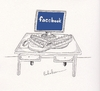 Cartoon: FACEBOOK (small) by Babak Mo tagged facebook,babak,mohammadi,cartoons,karikature,graphic,design
