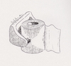 Cartoon: No comment (small) by Babak Mo tagged babak,mohammadi,cartoon,karikature,iran,design,typography