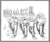 Cartoon: No comment (small) by Babak Mo tagged babak,mohammadi,cartoons,iran,usa,uk,political,karikature,politik