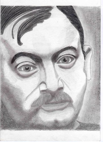 Cartoon: Joseph Roth (medium) by Marcello tagged schriftsteller,joseph,roth