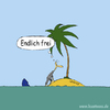 Cartoon: Endlich frei (small) by lexaart tagged gestrandet