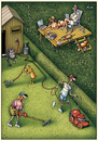 Cartoon: Garten 001 (small) by kurtu tagged yes