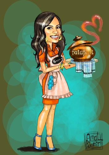 Cartoon: Darine (medium) by Amal Samir tagged cartoon,cook,digital,painting