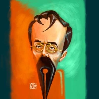 Cartoon: Ion Luca (medium) by Amal Samir tagged drawings,painting,digital,cartoon,caricaturist