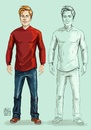 Cartoon: New Character (small) by Amal Samir tagged young,man,illustration