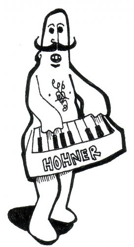 Cartoon: The Pianist (medium) by Peter Russel tagged hohner,pianist,naked