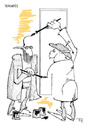 Cartoon: Creation (small) by paraistvan tagged painter,ending,drawing,creation,cartoonist