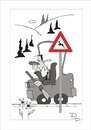 Cartoon: Traffic sign (small) by paraistvan tagged traffic,sign,hunting