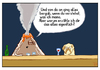 Cartoon: ... (small) by Tobias Wieland tagged vulkan,volcano,kneipe,mops