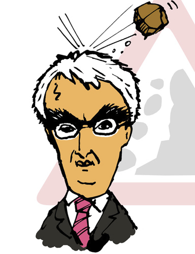 Cartoon: Alistair Darling (medium) by Dom Richards tagged chancellor,caricature