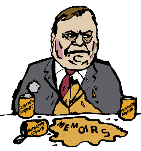 Cartoon: John Prescott (medium) by Dom Richards tagged john,prescott,caricature,politician,labour,vomit,autobiography