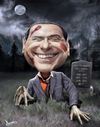 Cartoon: Zombiesconi (small) by Dom Richards tagged belusconi,caricature,cartoon,zombie,prime,minister,italy