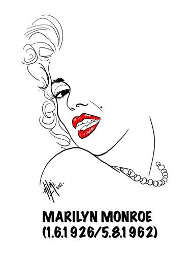Cartoon: MARILYN MONROE (medium) by Hilmi Simsek tagged marilyn,monroe,hilmi,simsek,cinema,art