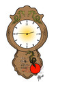 Cartoon: Japan earthquake (small) by Hilmi Simsek tagged japan,earthquake,clock,hilmi,simsek,cartoon,turkey