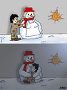 Cartoon: snow mother (small) by emraharikan tagged snow,mother