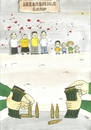 Cartoon: Srebrenica (small) by emraharikan tagged srebrenica